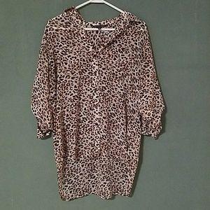 Victoria's Secret Leopard Button Down